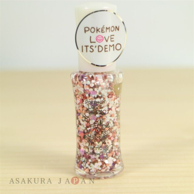 POKEMON LOVE ITS' DEMO Sequin nail polish 12ml NF-1 Sylveon Pikachu