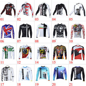 Men-039-s-Team-Cycling-Long-Sleeve-Tops-Bicycle-Jersey-Racing-Clothing-Sports-Wear