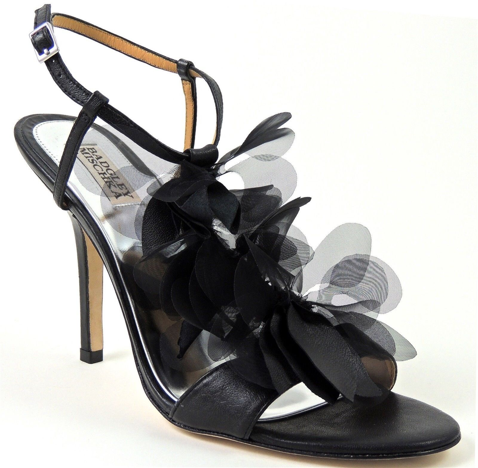 Badgley Mischka Donna  Dreamy T-Strap Sandals nero Leather Leather Leather Dimensione 10 M 0a3877