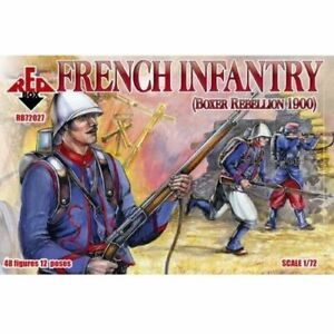 French-Infantry-Boxer-Rebellion-1900-Red-Box-Figures-48-1-72-Scale-72027