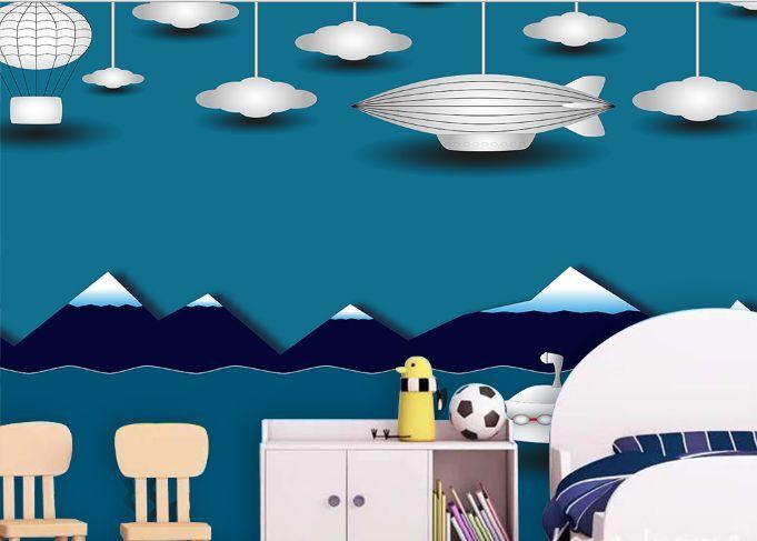 3D Night Flaky Clouds Paper Wall Print Decal Wall Wall Murals AJ WALLPAPER GB