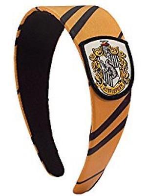 HARRY POTTER Licensed House HUFFLEPUFF Uniform Necktie HEADBAND w/ Crest Cosplay