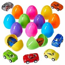 Prextex Easter Eggs Filled with Mini Pull back Vehicles For Easter Egg Hunt