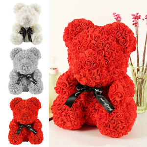 40cm-Ours-en-Rose-eternelle-Ours-Box-Amour-Teddy-Bear-Birthday-mariage-Valentin
