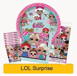 LOL-Surprise-Birthday-Party-Range-Tableware-Balloons-amp-Decorations-Unique