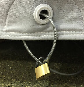 California Car Cover Cable & Lock: Cover Theft Deterrent ...
