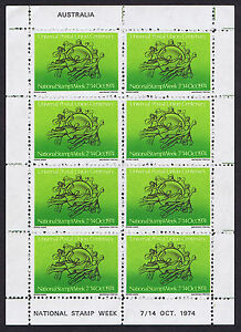 Australian-National-Stamp-Week-Cinderella-Item-Sheetlet-8-Stamps-REDUCED-PRICE