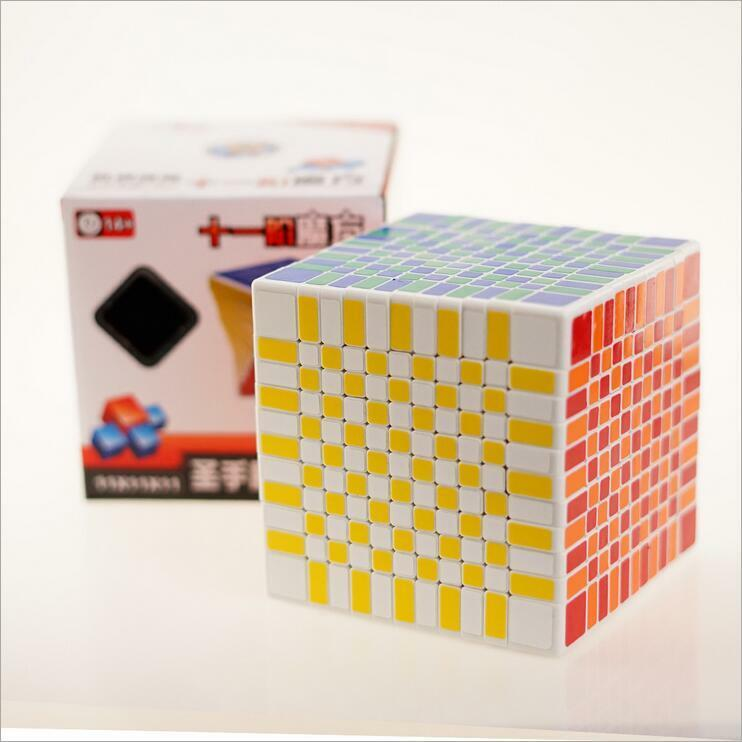 ShengShou 7095A 11x11x11 Magic Cube Speed Cube Puzzle Cube for Competition White