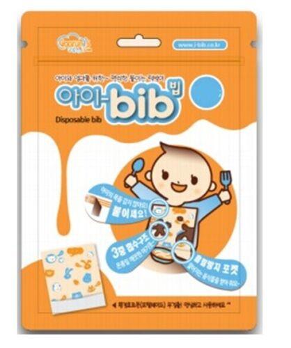 I BIB Disposable Convenient bib For Baby Free Motion 10 pcs Safety No NeckHanger