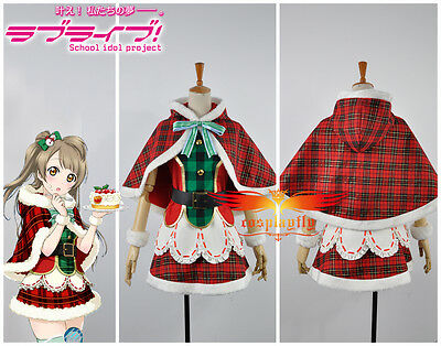 Hot Gift!Love Live Minami Kotori Christmas Dress Awakening Card Cosplay Costume