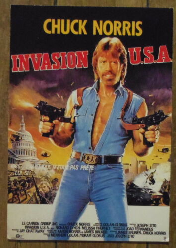 Chuck Norris,,postcard Carte postale Invasion USA