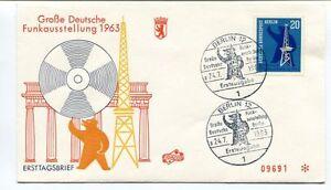 1963 Grosse Deutsche Funkausstellung Ersttagsbrief Berlin 12 Bundespost Space En Quantité LimitéE
