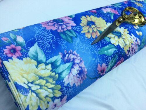 * Nouveau Stretch Jacquard jersey large imprimé floral robe//CRAFT//COUSSINS tissu