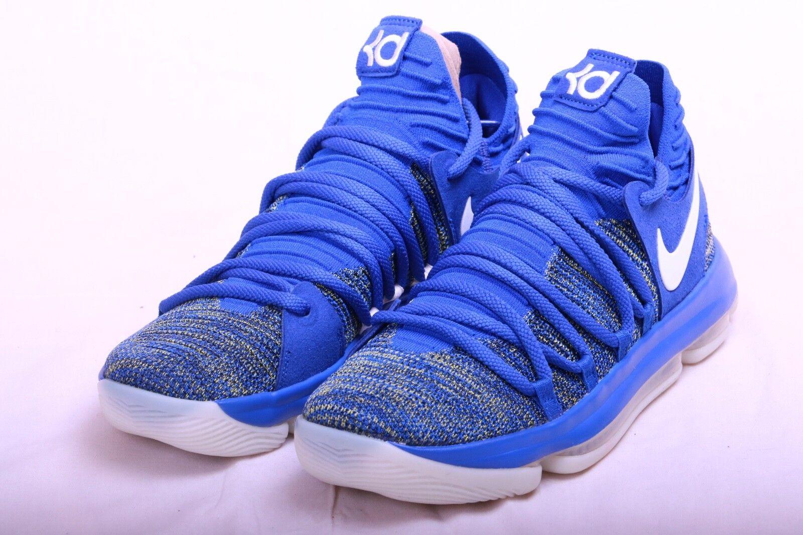 Nike Mens Zoom KD 10 Exclusive Racer bluee White White White AV4899 414 Size 9 1e3171