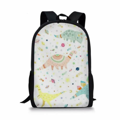 Cartoon Dinosaur Satchel Backpack Boys Girls Bookbag Lunch Box Pencil Bag Set