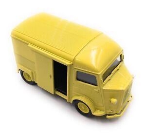 Citroen-Type-H-Modele-Fourgonette-a-Plateau-Camper-Jaune-Auto-Masstab-1-3-4