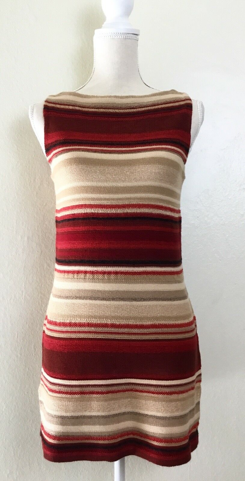 RALPH LAUREN Southwestern Stripe Indian Blanket Linen Blend Tank Top Tunic