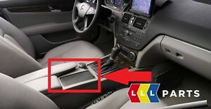 NEW-GENUINE-MERCEDES-BENZ-MB-C-CLASS-W204-BLACK-CENTER-CONSOLE-COVER-LHD