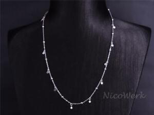 Silberkette-mit-Anhaenger-Plaettchen-Kurz-Schlicht-Rund-Kugel-Halskette-Damen