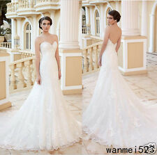 Vestidos de Novia Wedding Dress Mermaid Chic Backless Sweep Train New Bride Gown