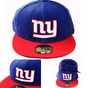 New-Era-NFL-New-York-Giants-5950-Blue-Fitted-Hat-2Tone-Corduroy-Team-Classic-Cap