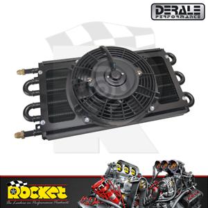 Derale Dyno-Cool 6 Pass Remote Mount Cooler w/ Fan -6AN Ports - DP12731