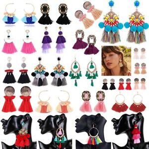 Mutil-Styles-Women-Bohemian-Long-Fringe-Boho-Dangle-Tassel-Ear-Stud-Earrings
