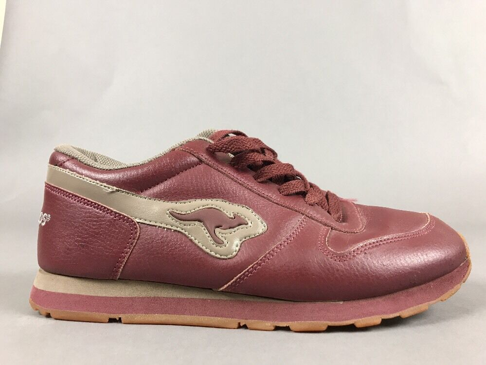 Roos Kangaroos Leather Red Flight 8 1/2 Womens Shoes