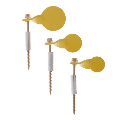 3pcs//Set Metal Shooting Spinner Plinking Target Hanging on Tree Screws 2.5//3//4cm