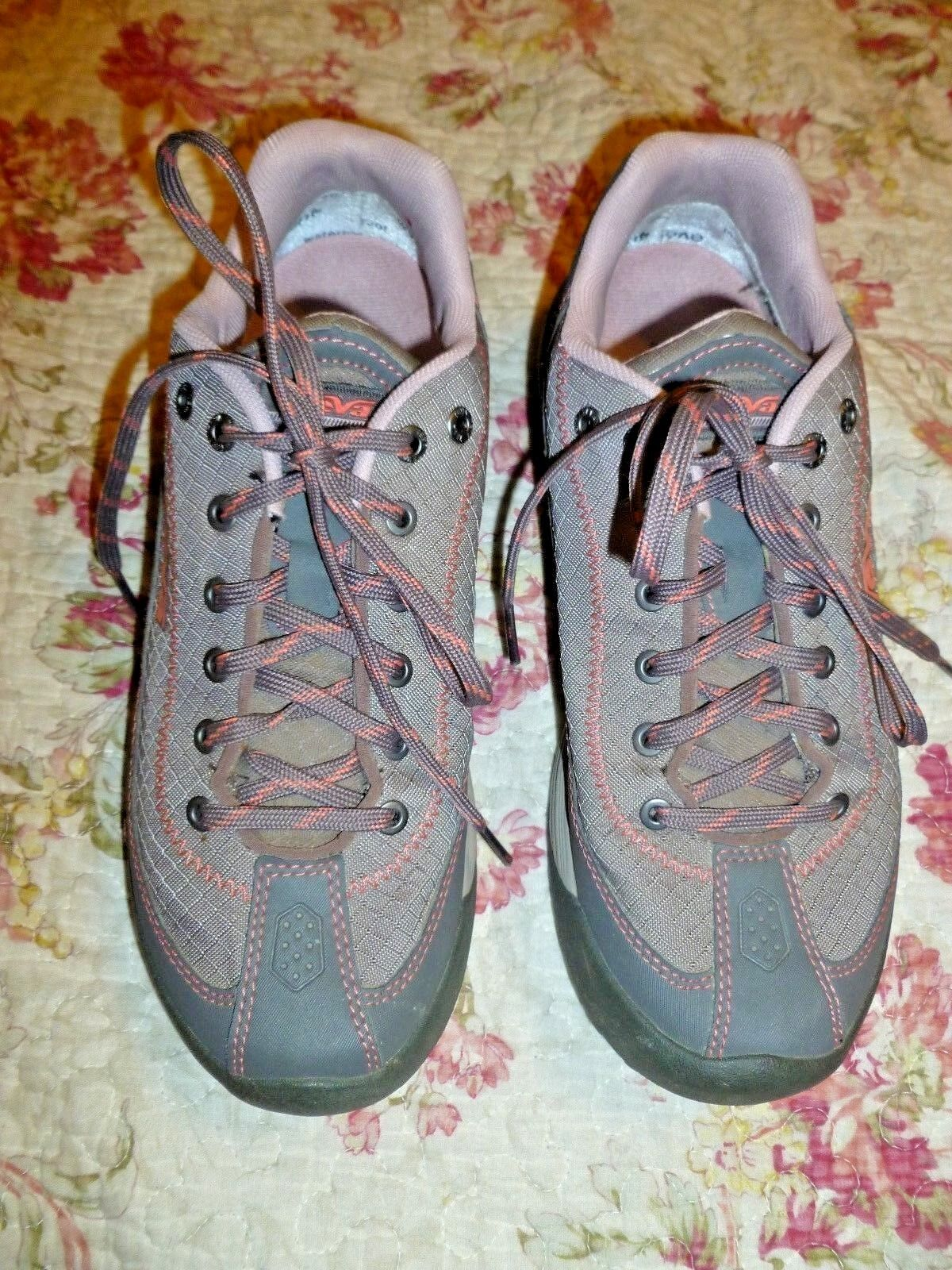 TEVA Grau PINK lace up up up  walking,hiking water schuhe US 7.5 EVENT waterproof 5750d0