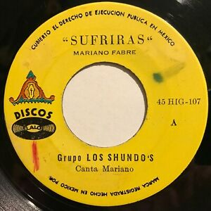Grupo-Los-Shundos-Sufriras-Tu-Capricho-Latin-Killer-Tropical-Synth-Cumbia-45rpm