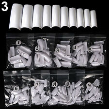 500pcs Nails Half French False Nail Art Tips Acrylic UV Gel Manicure Tip Cheaply