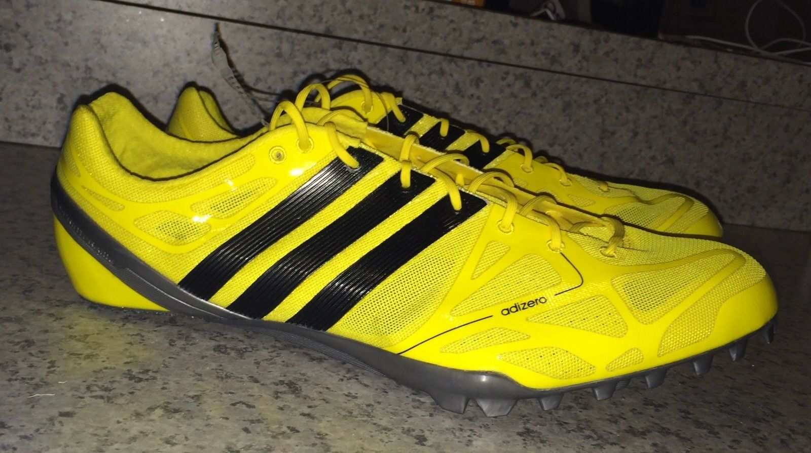 Neue männer adidas adizero prime accelerator gelb 12,5 13 - sprint - track - spitzen