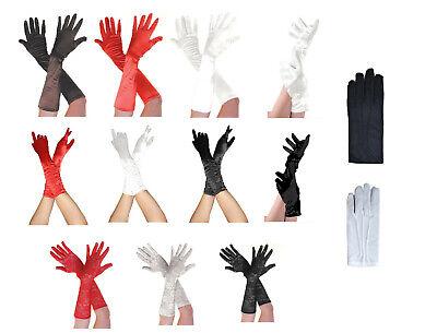 Aspirante Donna Raso Corto/lungo Gomito Lunghezza Guanti Arricciato Opera Anni 1950 Costume-mostra Il Titolo Originale Sapore Aromatico