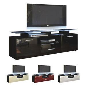 tv lowboard board schrank tisch almada in schwarz matt. Black Bedroom Furniture Sets. Home Design Ideas