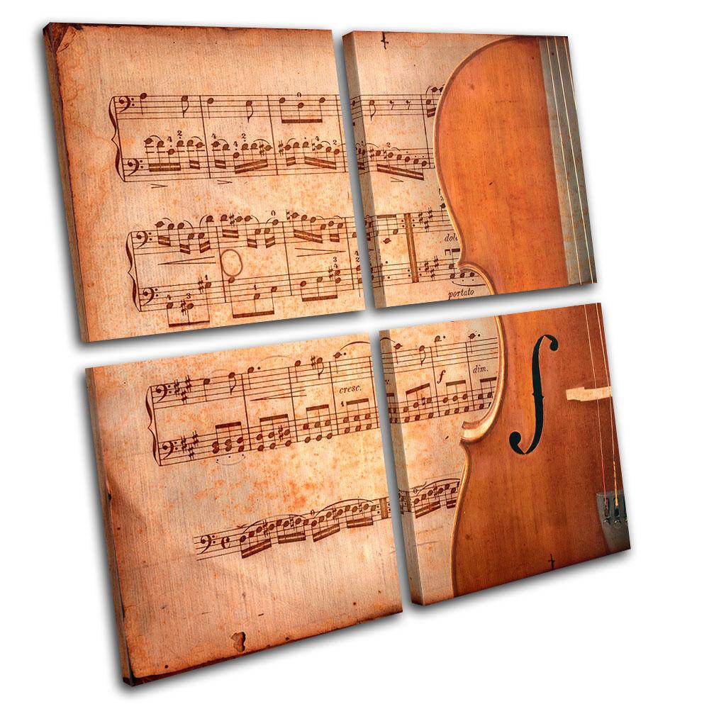 Violin INSTRUMENTS Musical MULTI TELA parete arte arte arte foto stampa 8a14cf