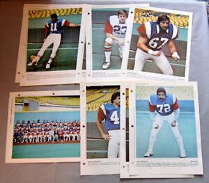 1977-Lot-of-9-Montreal-Alouettes-CFL-Dimanche-Derniere-Heures-Premium-Photos