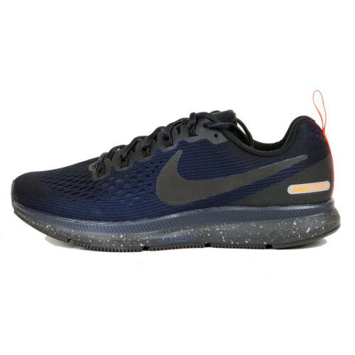 Nike Air Mens Zoom Pegasus 34 Shield Running Shoes Winter Warm 907327 001