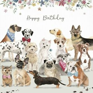 Image Is Loading Dog Lovers Luxury Birthday Card Westie Dachshund Cockapoo