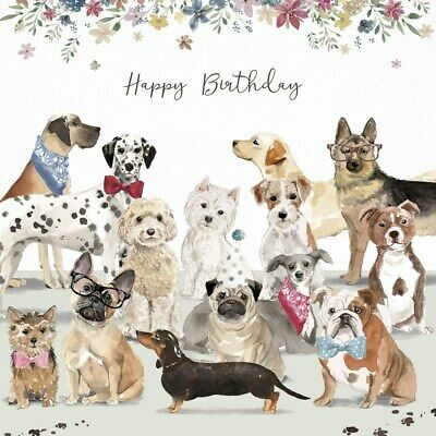 Dog Lovers Luxury Birthday Card Westie Dachshund Cockapoo Pug Labrador Bulldog 5060577358480