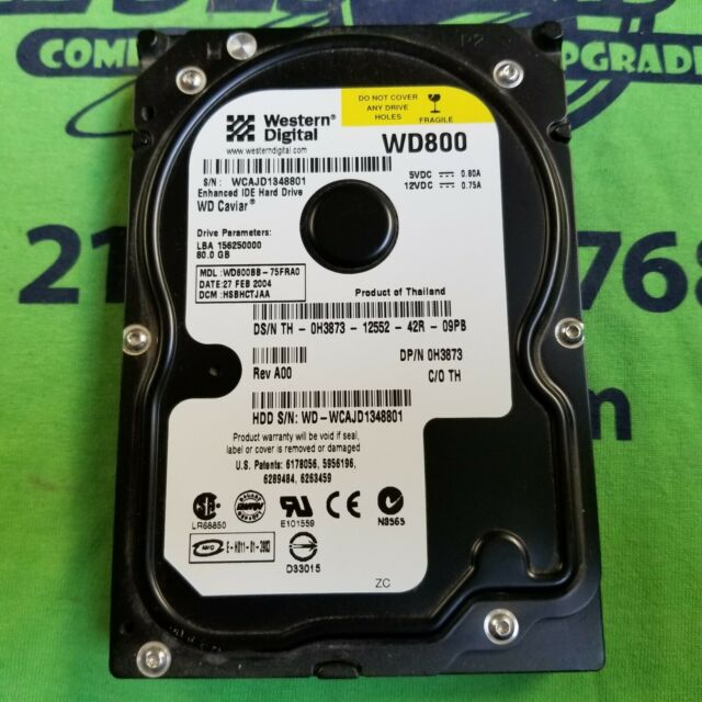 "Western Digital WD Caviar 80 GB,Internal,7200 RPM,3.5"" (WD800BB-75FRA0)"