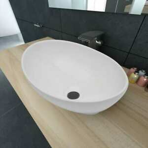 vidaXL-Lavello-Bianco-in-Ceramica-Lusso-Ovale-Sanitari-Bagno-Lavandino-Lavabo