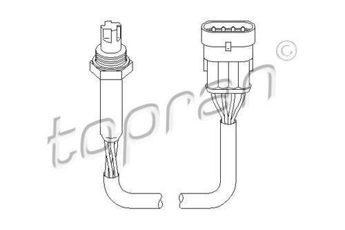 TOPRAN Lambdasonde Sensor Abgassteuerung 201 756 für OPEL ASTRA VECTRA 4-polig