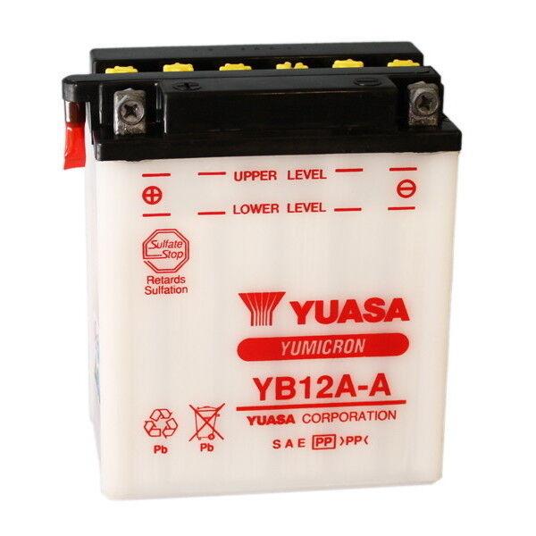 BATTERIA YUASA YB12A-A 80/83 KAWASAKI LTD (KZ440A1/A2/A3/A4/A5) 440 06.51234 12V