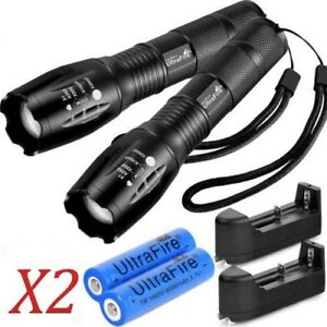 Ultrafire-Tactical-Flashlight-T6-60000LM-5-Modes-Zoomable-18650-Battery-Charger