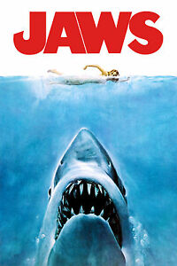 Jaws Movie Poster |A3 to A1+| 80's Spielberg Benchley DVD ...