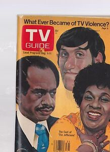 AUG 5 1978 -- TV GUIDE vintage television digest magazine -- THE JEFFERSONS
