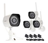 4-Pack Zmodo HD Wireless IP Outdoor IR Video Surveillance Security Camera System