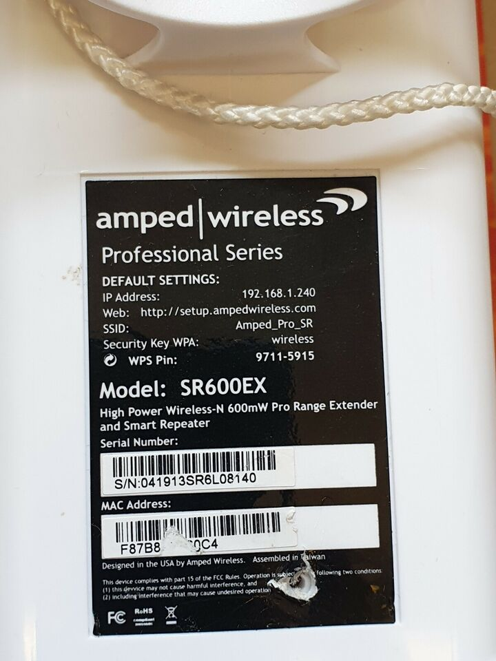 Repeater, wireless, Amped Wireless