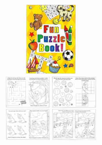 Small Loot//Party Bag Fillers Wedding//Kids 6 Fun Puzzle Books A6 Size